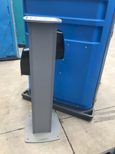 Double Alcohol Sanitizer Stand