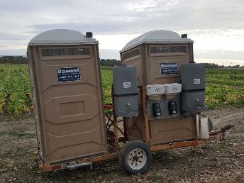 Double + triple restroom trailers
