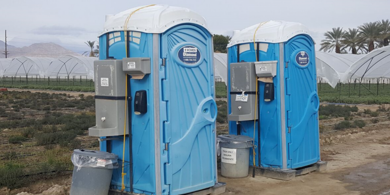 portable farming bathrooms