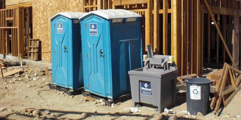construction portable restroom rental