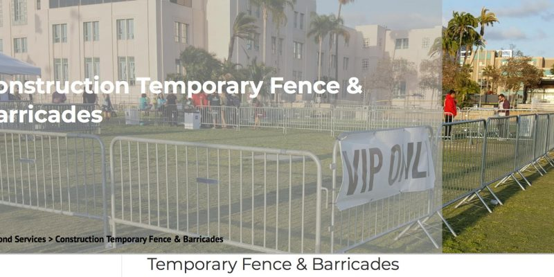 temporary fence - temporary fencing to rent